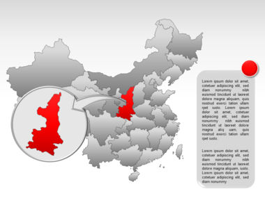 China PowerPoint Map Slide 40
