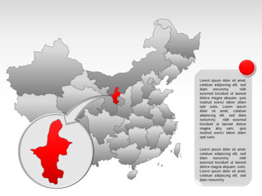 China PowerPoint Map Slide 41