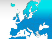 Europe: Mapa do PowerPoint - europa #00004