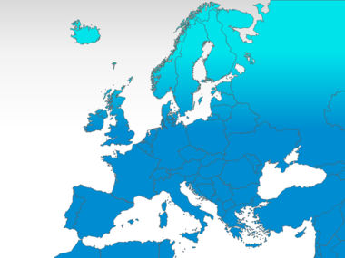 Europe: Carte PowerPoint de l'Europe #00004