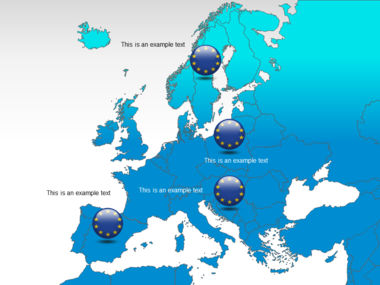 Europe PowerPoint Map Slide 12