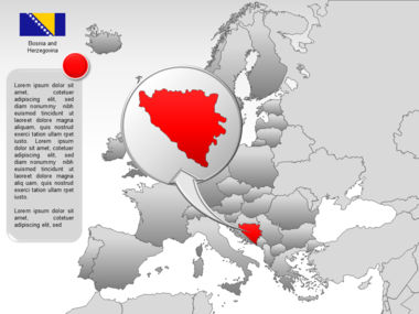 Europe PowerPoint Map Slide 38