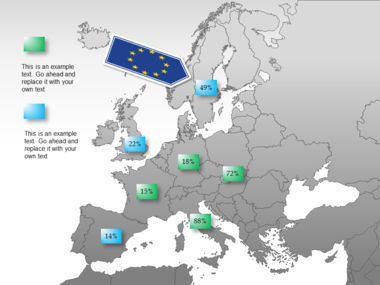 Europe PowerPoint Map Slide 46