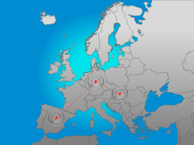 Europe PowerPoint Map Slide 6
