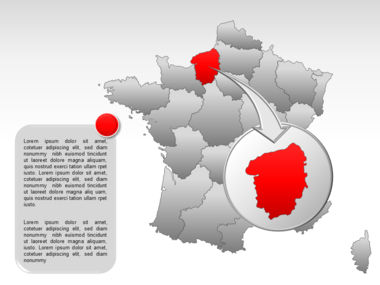 France PowerPoint Map Slide 15