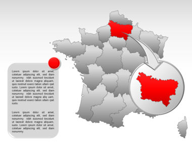 France PowerPoint Map Slide 16