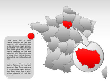 France PowerPoint Map Slide 18