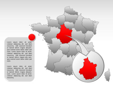 France PowerPoint Map Slide 19