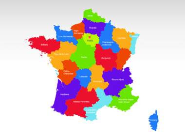 France PowerPoint Map Slide 2