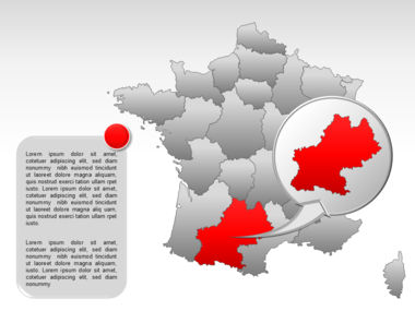France PowerPoint Map Slide 24
