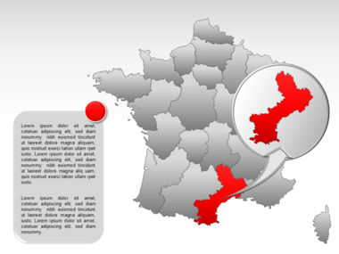France PowerPoint Map Slide 25