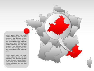 France PowerPoint Map Slide 28