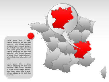 France PowerPoint Map Slide 29