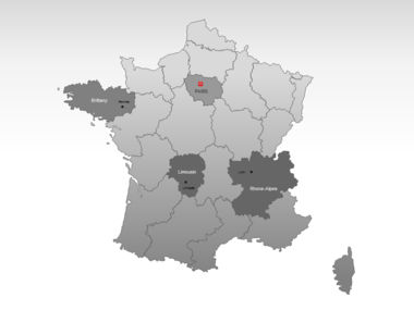 France PowerPoint Map Slide 3