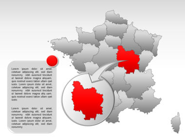France PowerPoint Map Slide 31