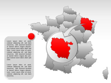 France PowerPoint Map Slide 33