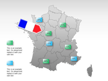 France PowerPoint Map Slide 35