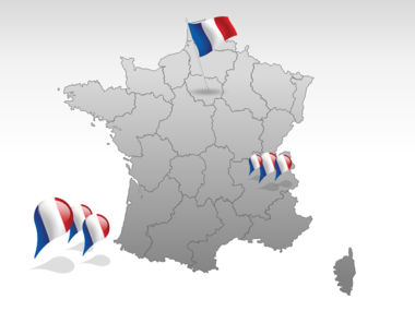 France PowerPoint Map Slide 4