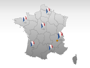 France PowerPoint Map Slide 5