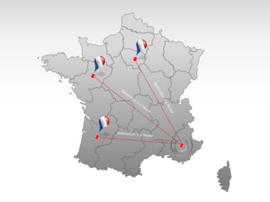 France PowerPoint Map Slide 7