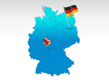 Germany: Alemania mapa de PowerPoint #00006