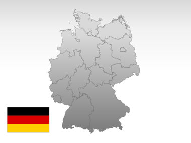 Germany PowerPoint Map Slide 10