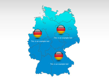 Germany PowerPoint Map Slide 12