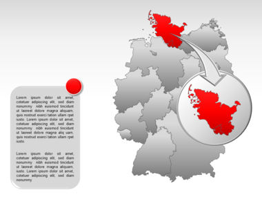Germany PowerPoint Map Slide 13