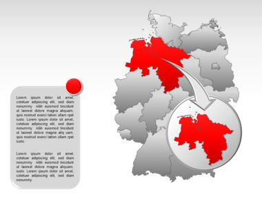 Germany PowerPoint Map Slide 14