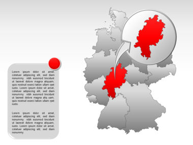 Germany PowerPoint Map Slide 16
