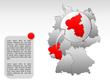 Germany PowerPoint Map Slide 17