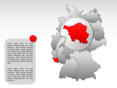 Germany PowerPoint Map Slide 18