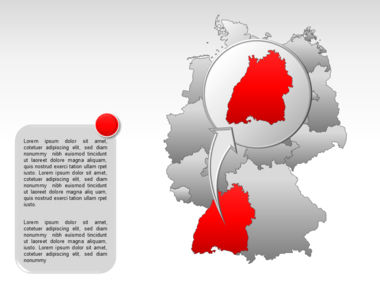 Germany PowerPoint Map Slide 19