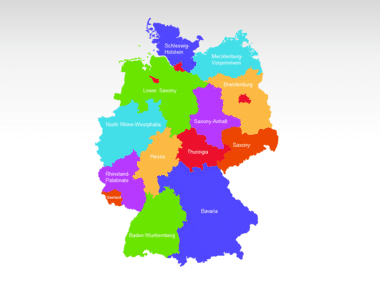 Germany PowerPoint Map Slide 2