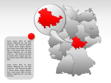 Germany PowerPoint Map Slide 21
