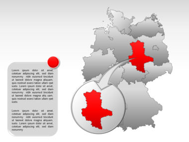 Germany PowerPoint Map Slide 23