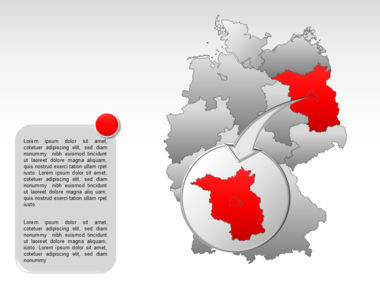 Germany PowerPoint Map Slide 25