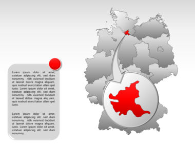 Germany PowerPoint Map Slide 27