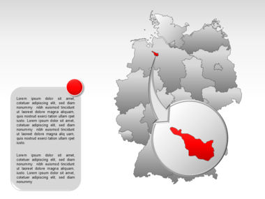 Germany PowerPoint Map Slide 28