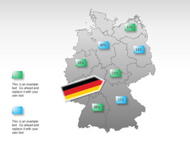Germany PowerPoint Map Slide 29