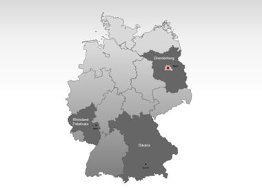 Germany PowerPoint Map Slide 3