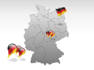 Germany PowerPoint Map Slide 4
