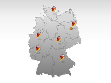 Germany PowerPoint Map Slide 5