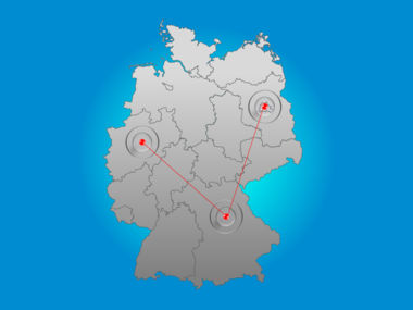 Germany PowerPoint Map Slide 6