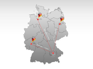 Germany PowerPoint Map Slide 7