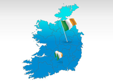 Ireland: Ireland PowerPoint Map #00007
