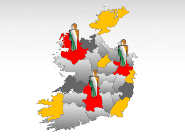 Ireland PowerPoint Map Slide 11