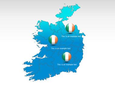 Ireland PowerPoint Map Slide 12