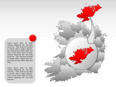 Ireland PowerPoint Map Slide 13