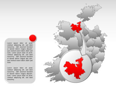 Ireland PowerPoint Map Slide 15